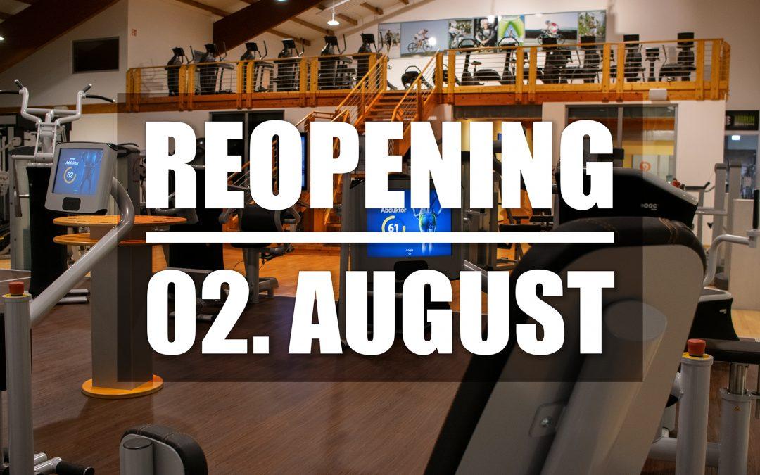 Wiedereröffnung am 02. August